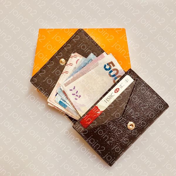 ENVELOPPE CARTE DE VISITE M63801 Diseñador de Moda Hombres Moneda Tarjeta de Crédito Tarjeta de Crédito Titular del Boleto Caso Clave de Lujo Organizador de Bolsillo Monedero N63338