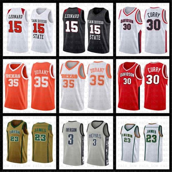NCAA Kawhi 2 Leonard Jersey Junior Pascal 43 Siakam Vince 15 Carter Kyle 7 Lowry Fred 23 VanVleet College Kinder Basketball Trikots ROT