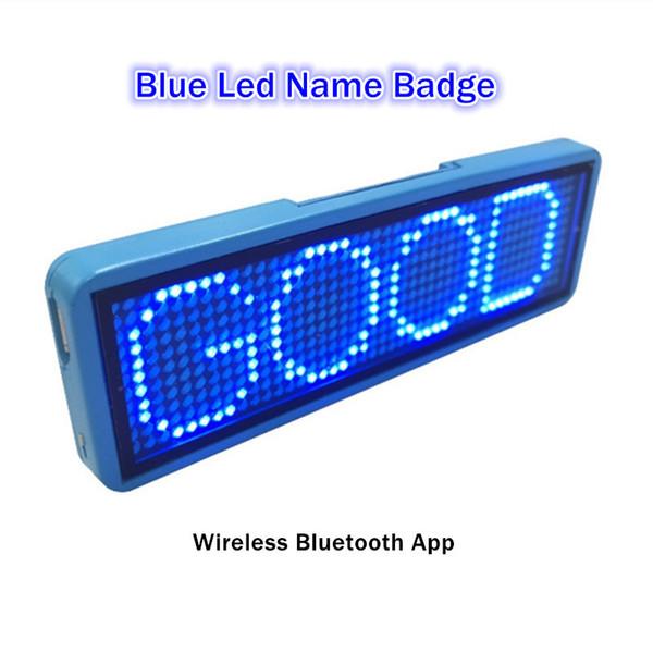 7 Segment Lcd Blue Led Namensschild Wiederaufladbare Drahtlose Bluetooth Supermarkt Preisschild Visitenkarte Display 12 36 Pixel Mit Pin Muti