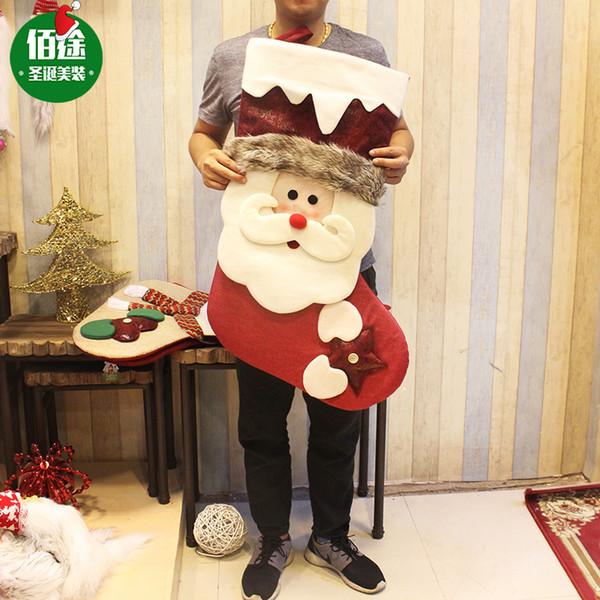Ev 3D Yaratıcı Noel Sacks Baba Çorap çorap Yılbaşı süslemeler Noel Hediyesi Çanta Noel Süsleri