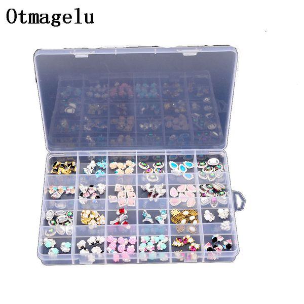 Clear Plastic Case 24 Slots Beautiful Jewelry Nail Art Rhinestone Empty Storage Box Travel Organizer Bead Accessories