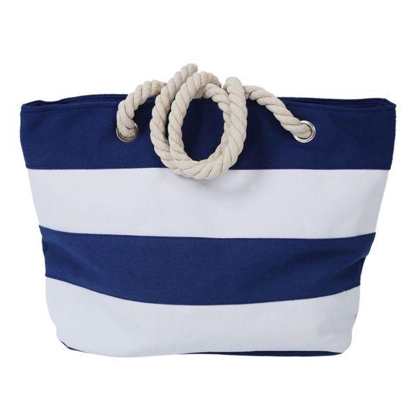 Borse da spiaggia donna borsa di tela moda borse stampa borse donna tracolla grande borse casual shopping bags (blu)