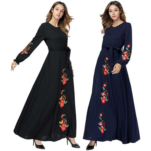 Vestidos Kaftan Abaya Dubai Muslim Hijab Dress Women Jilbab Caftan Oman Qatar UAE Robe Abayas For Women Turkish Islamic Clothing
