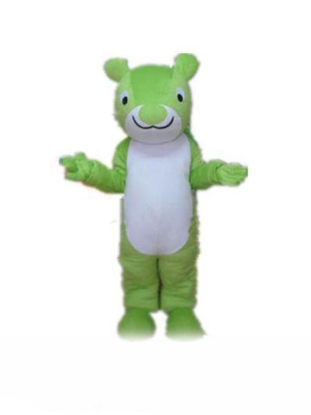 fabbrica caldo un costume mascotte scoiattolo verde per adulti da indossare
