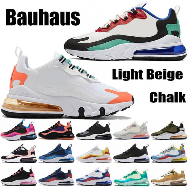 best selling React Bauhaus Triple Black 270OG Men Women Shoes Heavy Metal Electro Green Optical Geometric Art Hyper Jade Mesh Running Designer Sneakers