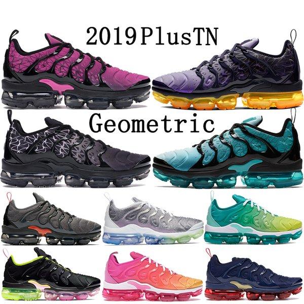 2019 Yeni Nike Air Vapormax Plus TN Artı Olimpiyat Geometrik Siyah Beyaz Pembe Rise Ruhu teal Izgara Baskı limon kireç erkek bayan koşu ayakkabı tasarımcısı sneakers 36-45