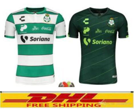 Dhl-freies Versandmexiko-Liga Santos Lagunas nach Hause und weg maillot de foot camisa Jersey 18/19 hochwertiges Fußballhemd