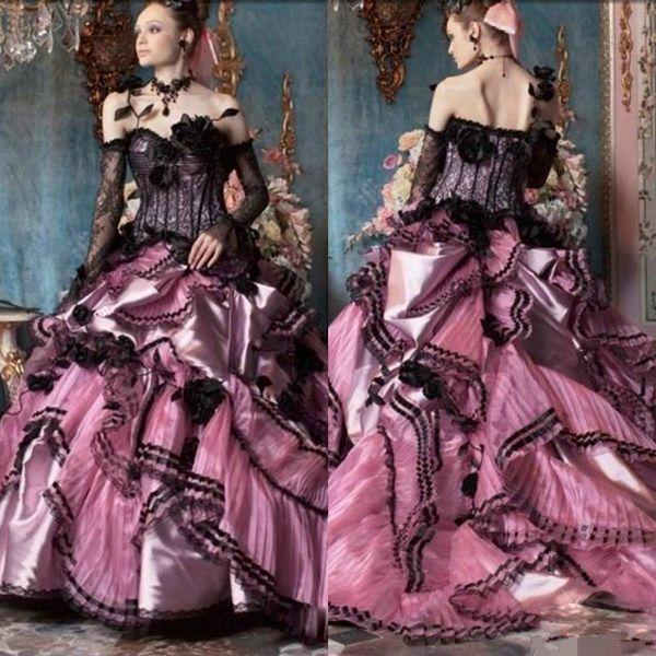 Gothic 2019 New Wedding Dresses Plus Size Off The Shoulder Vintage Bell Long Sleeve Celtic Medieval Princess Bridal Gown