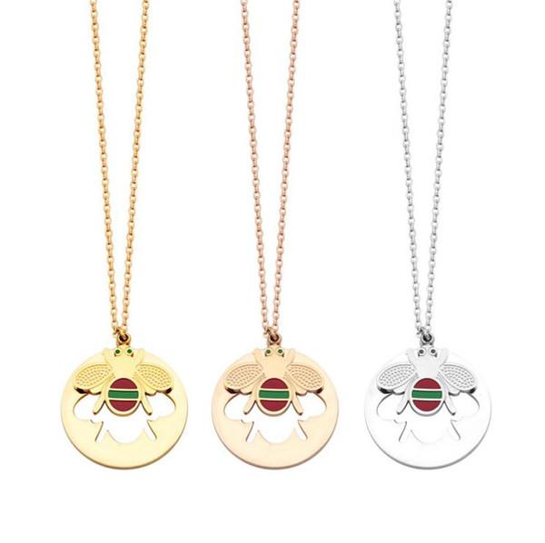 2019 Новый Пчелиный стиль из нержавеющей стали цепи кольцо кулон стиль для женщин ожерелье мода ожерелья подвески модель ювелирные изделия подарок