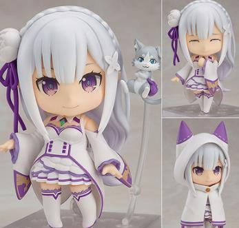 Emilia Re Zero Q Version Action Figure Re:life In A Different World From Zero Toy Japanese Anime Figures Action Model Collection