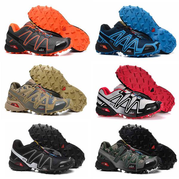 salomon speedcross 3  Casual Hombres Speedcross 3 Trail Zapatillas para correr Deporte al aire libre Zapatos ligeros Mnes blanco negro rojo amarillo con cordones Zapatillas