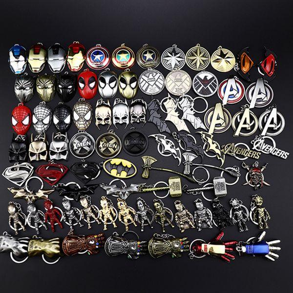 Marvel Avenger Action hero llavero llavero Anime llavero moda Hangings cool accesorios Kawaii Party Favors Kid regalo 480