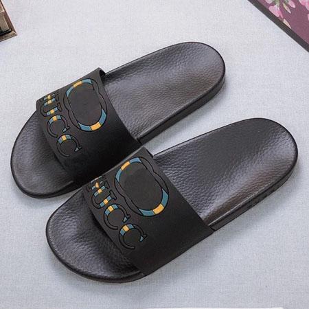 Avec la boîte meilleure qualité pantoufles sandales coulisses pantoufles sandales designer chaussures huaraches tongs pour homme femme par bag07 KQ807 10-18