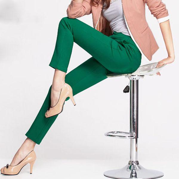 Nuevas mujeres Casual Ol Office Lápiz Pantalones Chicas lindas 12 Color Slim Stretch pantalones Moda Candy Jeans Lápiz pantalones