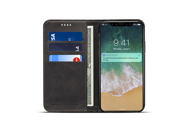 For iphone x max xr x 8 7 plu retro flip tand wallet leather ca e phone cover for am ung 9 10 plu 10e