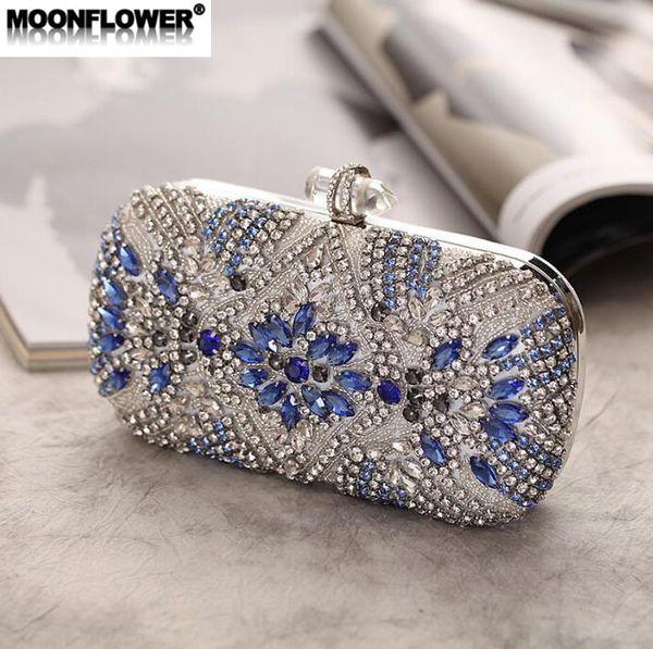 Factory wholesale brand women handbag luxury diamond elegant dinner bag acrylic buckle holding chain bag banquet night club dress bag
