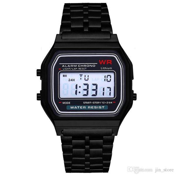 best selling Free shipping F-91W watches Fashion Ultra-thin LED Wrist Watches F91W Men Women Sport watch
