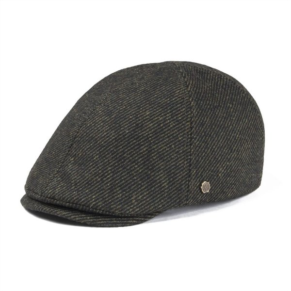 wholesale Wool Tweed Twill Flat Cap Mens Women Newsboy Fall Winter Warm Soft Beret Caps Cabbie Hat Gatsby Boina Baker Hats 182