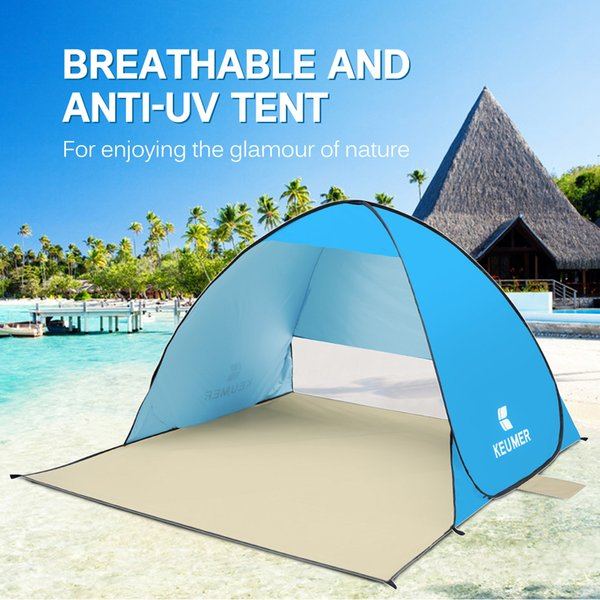 Automatic Camping Tent Anti UV for 1-2 Persons Beach Tent Travel Waterproof Awning Portable Tents Outdoor Camping Ship From RU