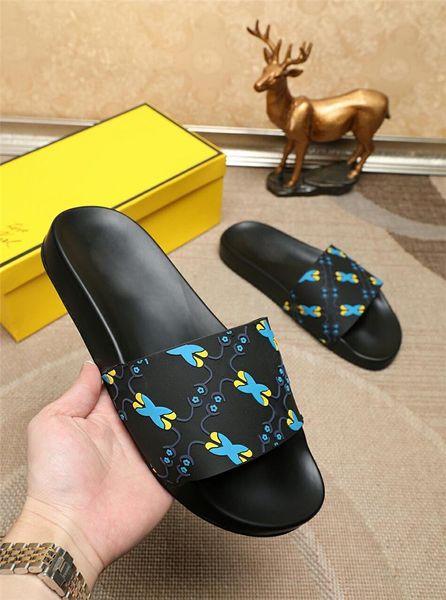 2019 Pool Slides With Embossed Rubberised Slip-On Rubber Pvc Sandals Slippers For Men 0Fendi01 Home Slippers Men S Slippers Baboosh