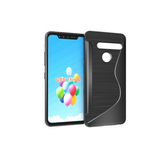 S Line Brushed Silicone Soft TPU Gel Back Cover Skin Bag For LG K40 For LG G8S ThinQ Phone Funda Cases