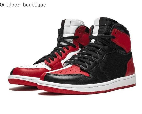 1 Haut JO Hommes Chaussures de basket Banned Bred Toe Ombre Gold Top Meilleure Qualité Designer Hommes Athlétisme Formateurs Sneakers 40-45