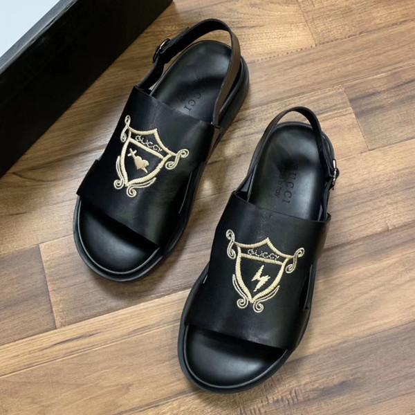 2019 pantofole da uomo di design di lusso per uomo, sandali firmati da uomo e scarpe classiche di marca superstar n085 taglia 38-45