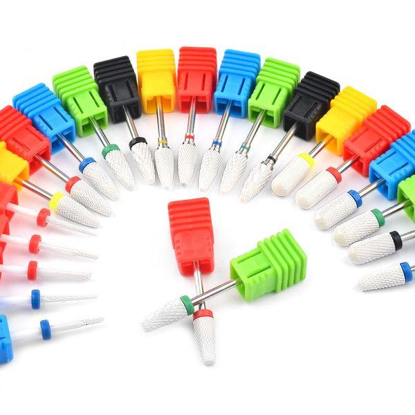 1pcs 23 Tipo Nail ceramica Punta di trapano della macchina del manicure frese per manicure Pedicure elettrico Nail macchina Drill