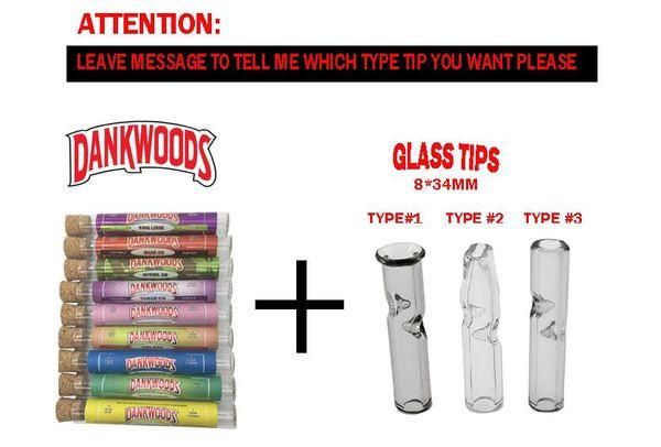 أنابيب dankwoods + نصائح الزجاج