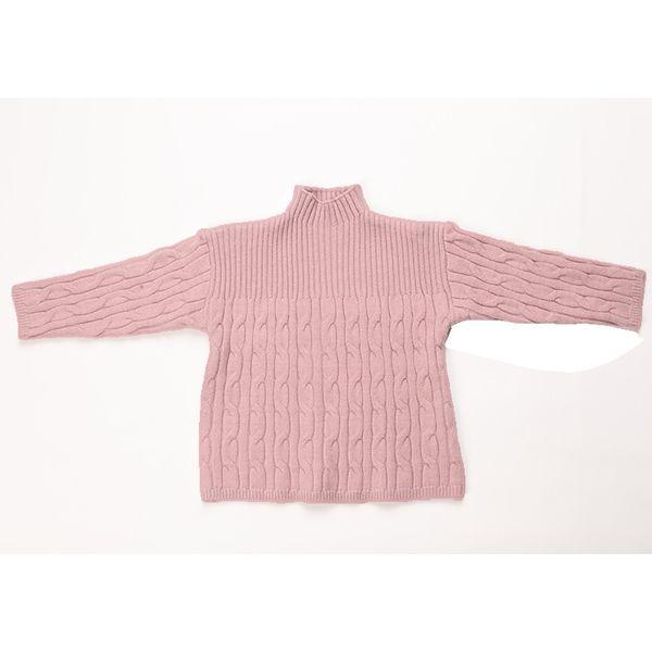 Kore Tarzı Genç Kızlar için Kazak Kazak Kız Çocuklar Kışlık Giyim Balıkçı Yaka Örme Ceket Kız Giyim 2-9 Yıl