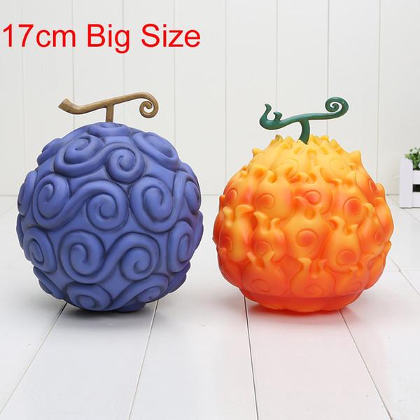 17 cm Tek Parça Şeytan Meyve Ace Alev alev Luffy Sakız-sakız Action Figure Pvc Rakamlar Oyuncaklar Y190604