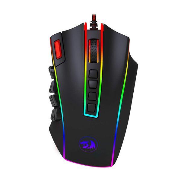 ReDRagon Red Dragon M990USB Wired E-Sport Gioco brillante mouse macro programmazione del laser con pulsanti laterali
