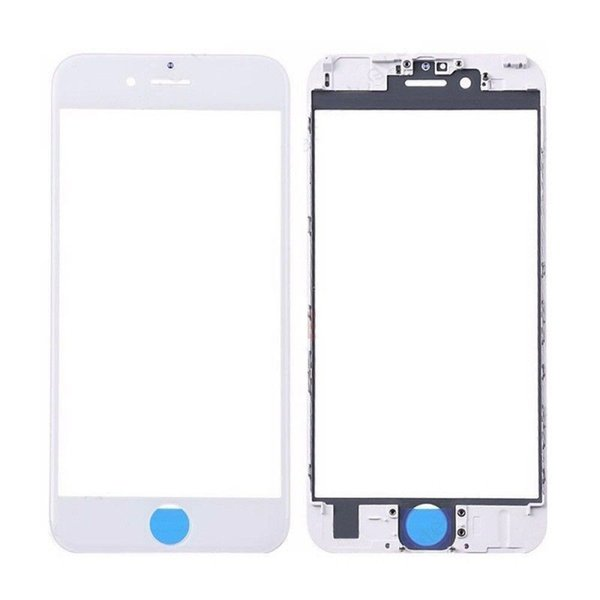 10PCS Original 3 in pieces 1 glass exterior cold press front with half frame bevel assembly + OCA film for iphone 8 8 plus