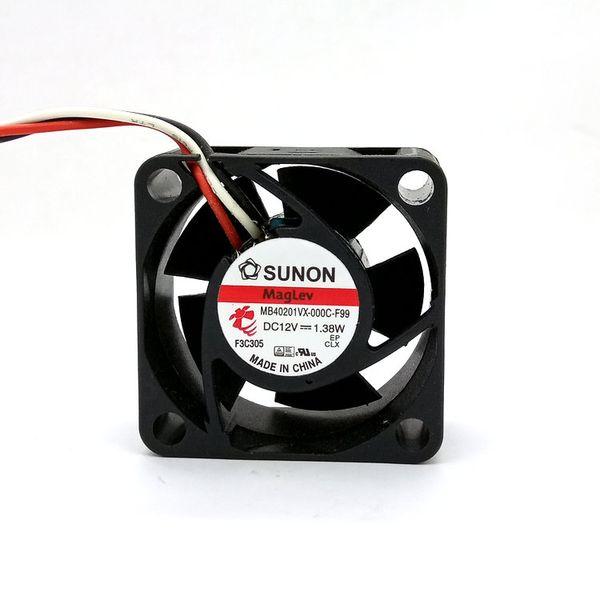 Новые оригинальные MB40201VX-000C-F99 DC12V 1.38W 40 * 40 * 20MM 4см Сигнал тревоги охлаждения FONSONING вентилятор