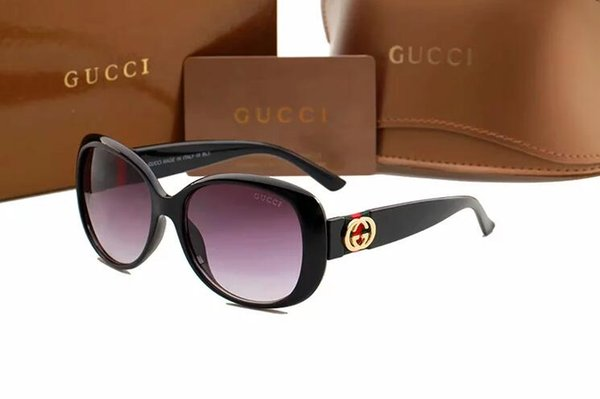 1 pz di alta qualità occhiali da sole pilota classico del progettista di marca delle donne degli uomini occhiali da sole occhiali in metallo oro lenti grglass marrone caso 0363