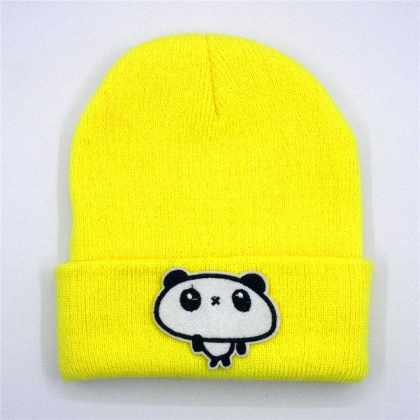 LDSLYJR dos desenhos animados grande panda bordados Thicken malha chapéu de inverno chapéu morno Skullies cap gorro para os homens e as mulheres 179