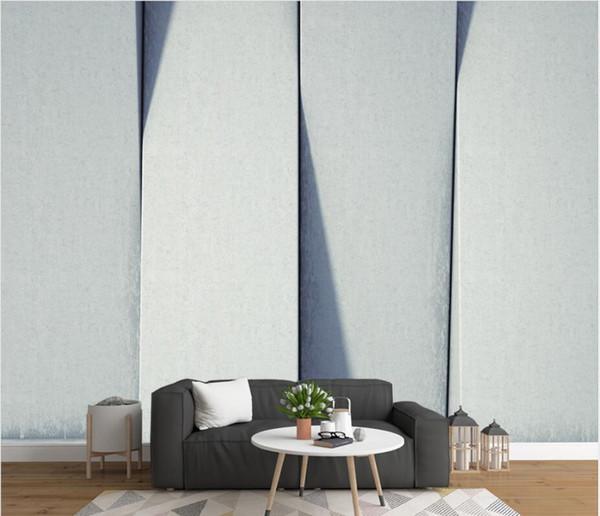 papel tapiz moderno para sala de estar cuadrados geométricos abstractos 3D gris espacio futuro fondo pared