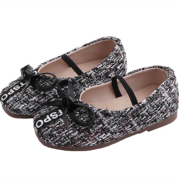 2019 nouvelle automne enfants chaussures enfants chaussures de designer chaussures chaussures chaussures mode casual bambin chaussure princesse petites filles chaussures détail A7144