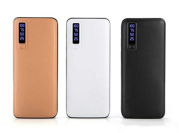 Neue stil 20000 mah energienbank 3usb externe batterie tragbare energienbank ladegerät mit led-licht für iphone 8 x samsung s8 universal