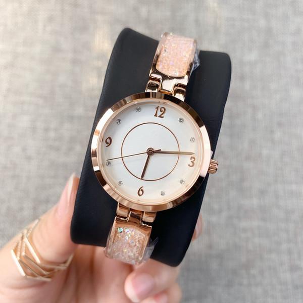 Hot nouveau style Plein diamants Horloge De Luxe Femmes Montre Rose or En Acier Inoxydable Sexy Lady Montre-Bracelet Haute Qualité table occasionnelle Free Box Cadeau
