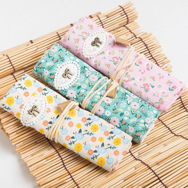 8 Slots Printing Canvas Crochet Hook Knitting Needle Pencil Craft Case Holder Organizer Bag Lady Pouch Weave Accessories ZA2727 20180920#