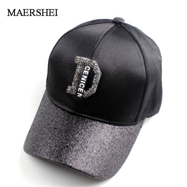 Maershei Fashion Women S Rhinestone Hats Luxury Female Baseball Cap Bling Diamond Cap Swag Casquette Girl Snap Back Gorras Caps Online Hats And Caps