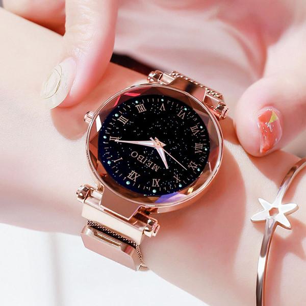 Kadın Saatler Manyetik Yıldızlı Gökyüzü Kadın Saat Kuvars Saatı Moda Bayanlar Bilek İzle Reloj Mujer Relogio Feminino 533