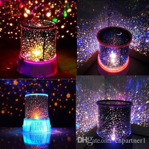 Perakende Iyi Hediye Için Yıldızlı Yıldız Usta Hediye Led gece lambası Ev Gökyüzü Yıldızı Ana Işık LED Projektör Lambası Yenilik İnanılmaz Renkli