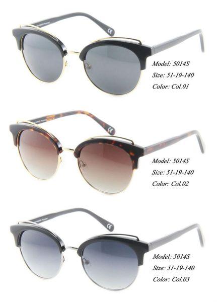 Eye wonder Women's Handmade Acetate Polarized Vintage Retro Metal Sunglasses Oculos de sol Gafas de sol Glasses Frames
