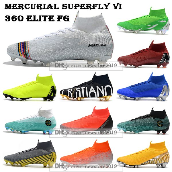 Kids High Ankle Football Boots Youth Superfly 6 Elite FG Soccer Shoes Men Women CR7 Mercurial Superfly VI 360 Neymar ACC Soccer Cleats