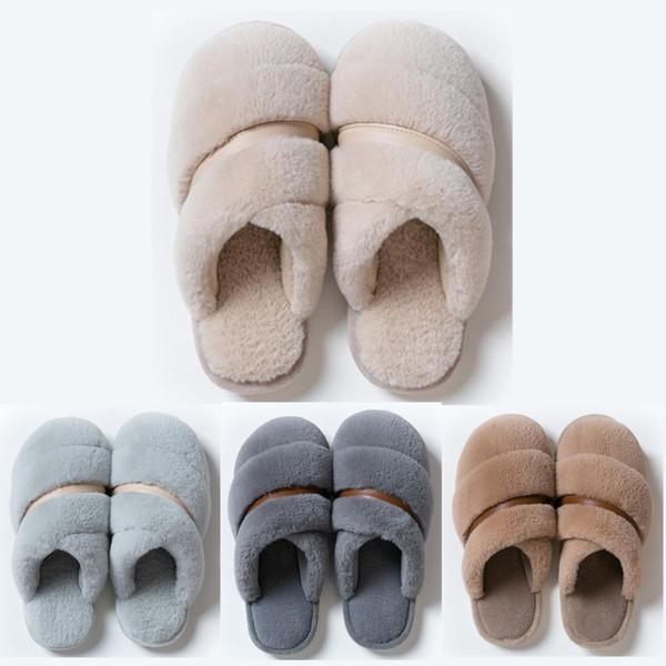 2020 새로운 비 브랜드 겨울 슬리퍼에 대한 여성 남성 모피 샌들 배 핑크 실내 홈 신발은 따뜻한 고무 플랫 샌들 37-45 스타일 (8) 유지