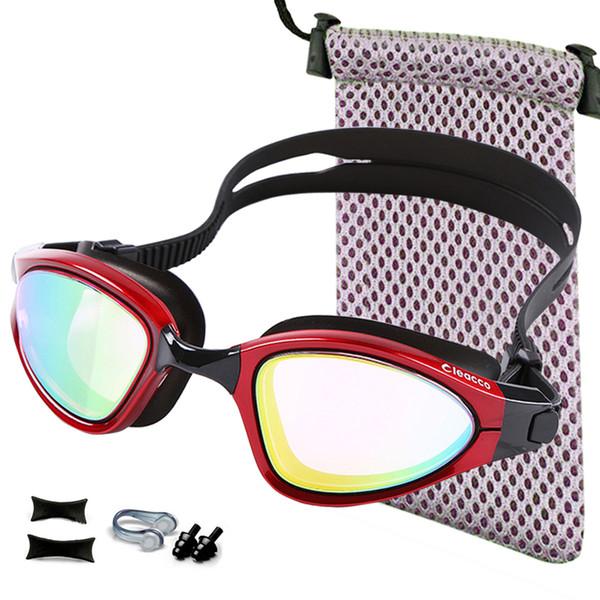 Professional Swimming Goggles Plating Anti-fog Swim Goggles Anti-UV Glass Men's Women's eyewear Swimming Glasses Option Case