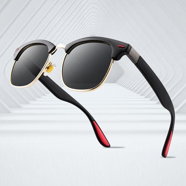 Alta qualità marchio di moda prove occhiali da sole retrò vintage designer uomo marchio oro lucido telaio laser logo alta qualità