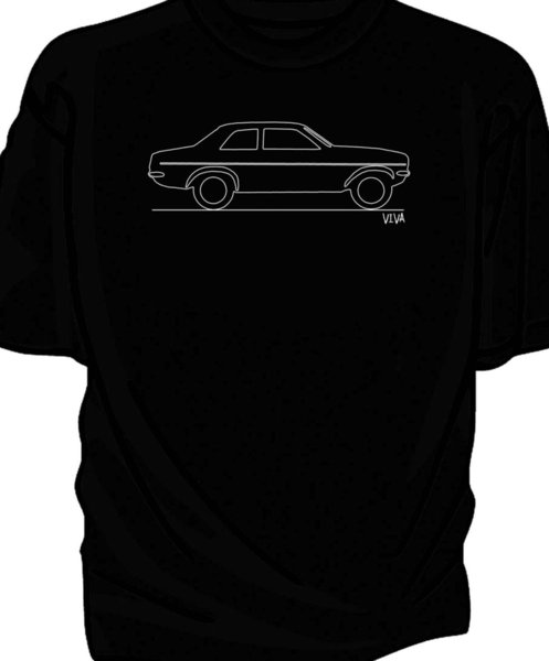 Camiseta clásica original del coche del bosquejo, camiseta ocasional unisex del envío libre de Vauxhall VivaFunny